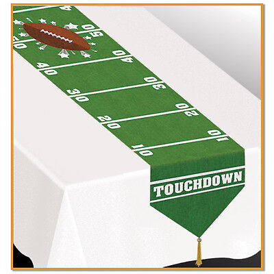 FOOTBALL Field Gameday NFL Sports TABLE RUNNER Super Bowl  Birthday Party -