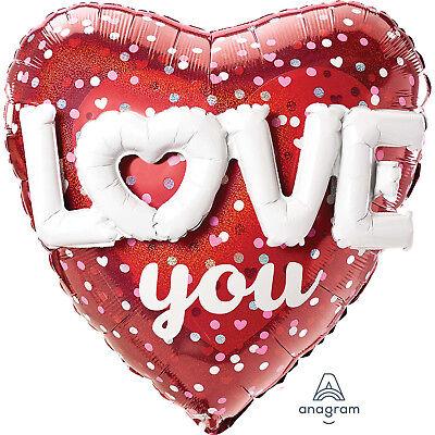 Liebe Dich Rot Herz Luftballon mit Geformt in Valentinstag Party (Rotes Herz Geformte Ballone)