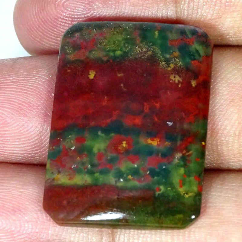 30.20Cts 100% Natural Blood Stone Cushion Cabochon Loose Gemstone