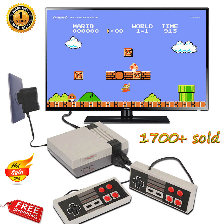 Mini Retro TV Game Console Classic 620 Games Built-in+2 Controller Kid Xmas Gift