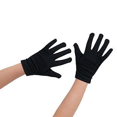 1 Paar Kinder Handschuhe Schwarz Baumwolle + geeignet für kl. (Kind Schwarz Handschuhe)