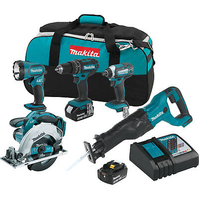 Makita XT505 18-Volt 5-Tool 3.0Ah Lithium-Ion Cordless Power