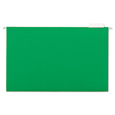 Universal Hanging File Folders 15 Tab 11 Point Stock Legal Green 25box 14217