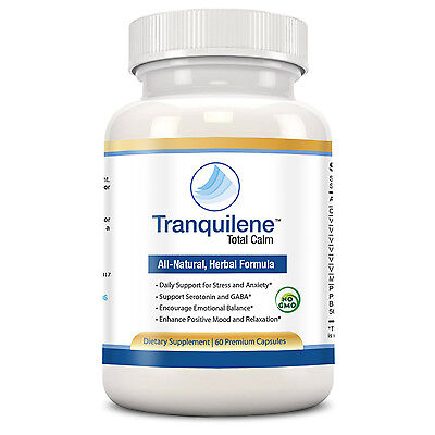 Tranquilene - Herbal Anti Anxiety Stress & Panic Supplement (1 Month, 60 Caps)