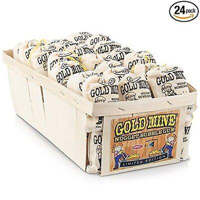 Espeez Old Fashioned Bubble Gum: Gold Mine Nugget Gum - 24 Bags  - Gold Nugget Gum