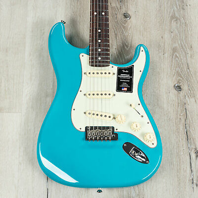 Fender American Professional II Stratocaster Guitar, Rosewood, Miami Blue