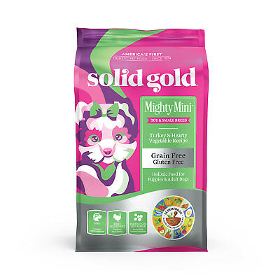 Solid Gold Lil' Boss Grain and Gluten Free Dry Dog Food, Turkey and Vegetable, 4