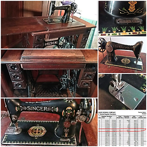 ANTIQUE SINGER TREADLE SEWING MACHINE  100 YEARS OLD WORKING Geeveston Huon Valley Preview