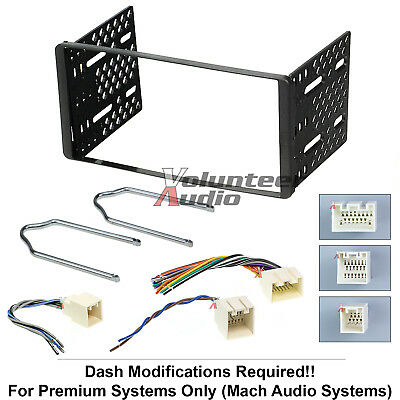 Install Brackets - 1998-2001 Double Din Radio Mount Kit For Stereo CD Player Install W Wire Harness