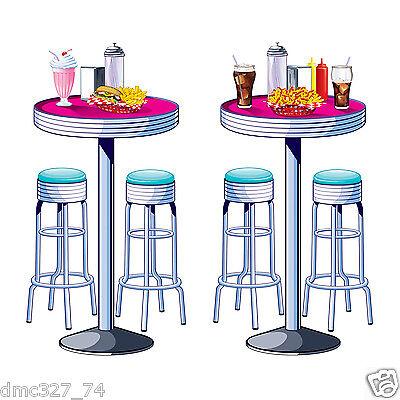 Soda Shop Tables & Stools Props Party Accessory