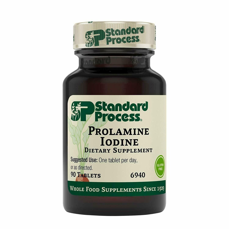 Standard Process Prolamine Iodine 90 tablets, exp 05/22