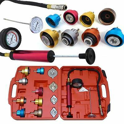 Radiator Pressure Tester Universal Tool Kit Cooling System Test Detector 14pc