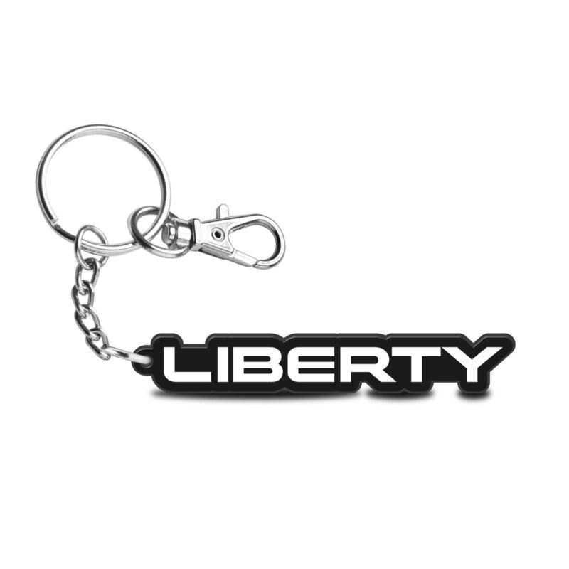 Jeep Liberty Custom Laser Cut with UV Full-Color Acrylic Charm Key Chain