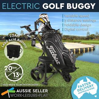 NEW Black Electric Golf Buggy 3-Wheel Foldable Trolley Cart Lead Perth Perth City Area Preview