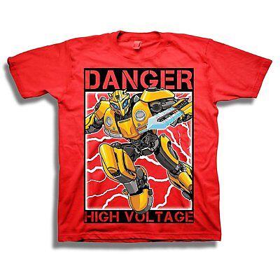 Transformers Bumblebee Movie High Voltage Boys T-Shirt](Transformers Boy)