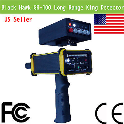 Black Hawk pro GR100 Long Range King metal Detector gold Gem hunter digger deep