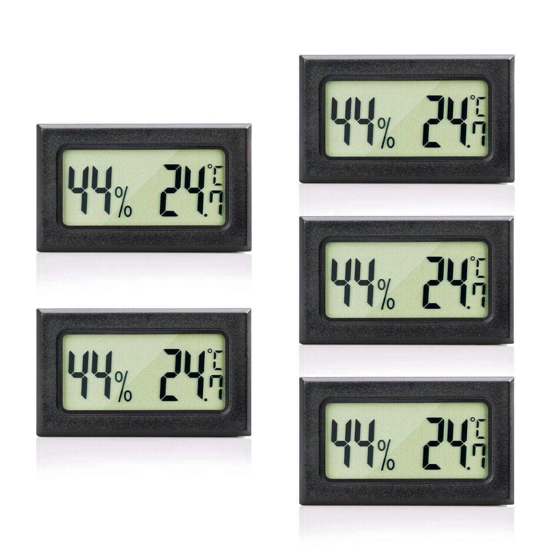MAVORI® Mini Thermometer und Hygrometer Digital als 1/2/3/5er Set - NEUES MODELL