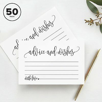 Advice and Wishes Cards, Perfect for the Bride and Groom, Baby Shower, Bridal...