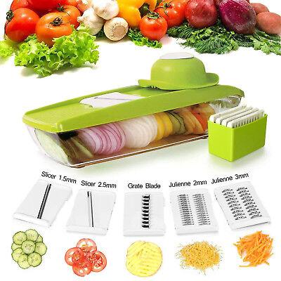 Vegetable Mandoline Slicer Fruit Cheese Grater Food Shredder Chopper 5