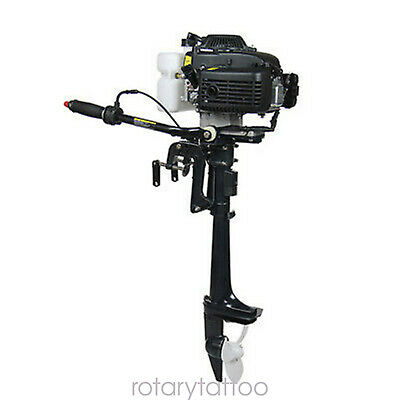 4 Stroke 4 Hp Outboard Motor Boat Gas Engine Air Cooling Cdi System 52cc 2.8kw
