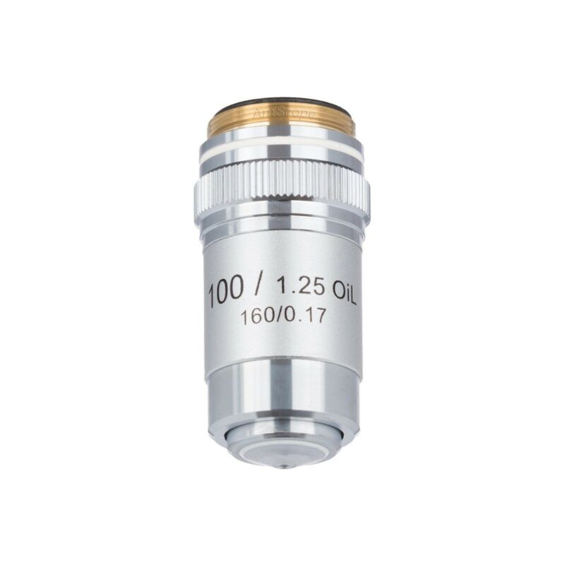 AmScope 100X (Oil) Achromatic Microscope Objective for Compound Microscopes