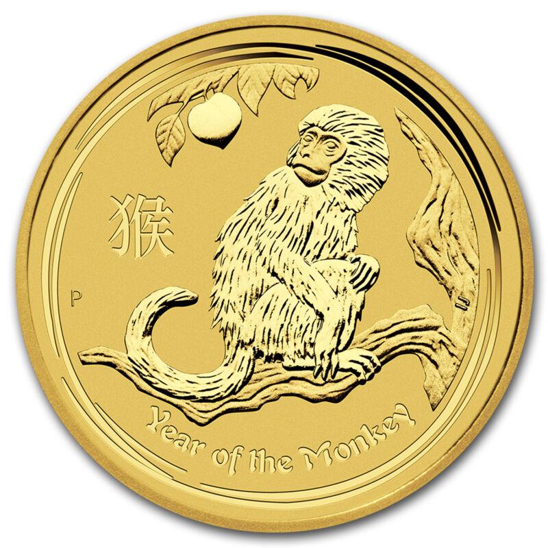 2016 Australia 2 Oz Gold Lunar Monkey Bu - Sku #92750