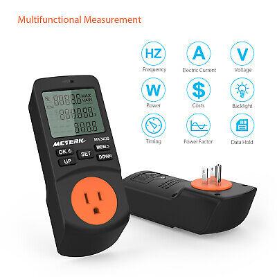 Meterk Plug-in Lcd Power Watt Meter Digital Timer With Socket Us
