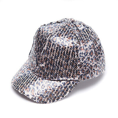 New Sequin Leopard Baseball Cap Hat by Collection Eighteen $28 Tags #HS152374A](Sequin Baseball Hat)