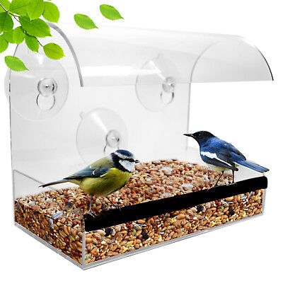 Window Bird Feeder - Wild Bird Feeder - Modern Bird Feeder With Clear Acrylic
