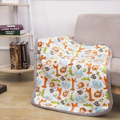 Breathable Baby Blanket Safari Print Fleece Best Registry Gi