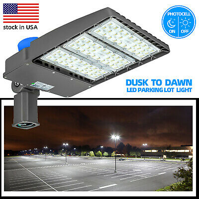 Led Parking Lot Light Photocell Inclludeled Street Area Flood Light300w 200w