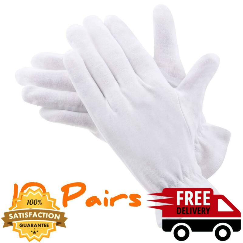 Moisturizing Gloves Over Night Bedtime White Cotton Cosmetic Inspection Premium