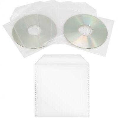 100 x Sleeve mit Lasche Folie Hüllen Box Leer-Hülle für Blu-Ray CD/DVD's Rohling