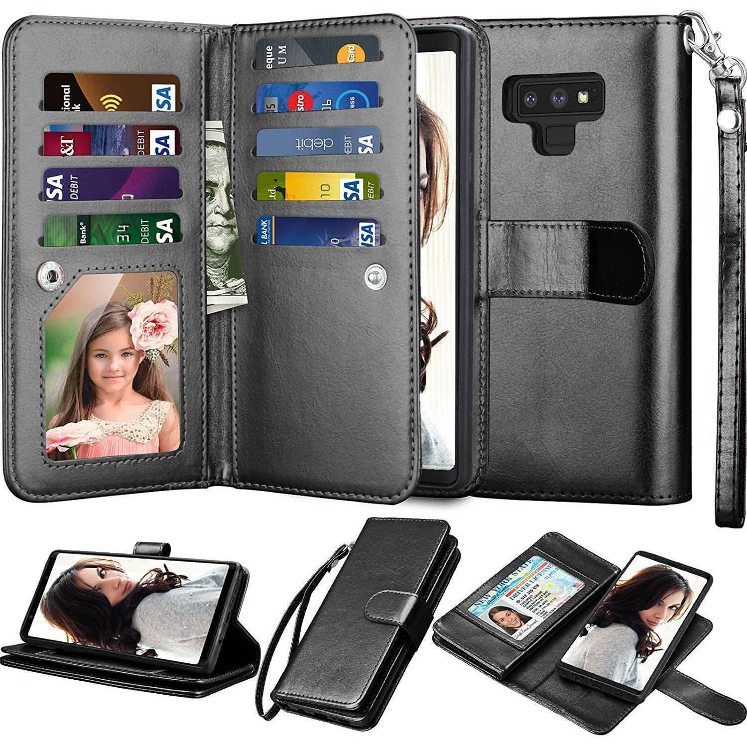 For Samsung Galaxy Note 9/ Note 8/S8/S9 Plus Leather Wallet