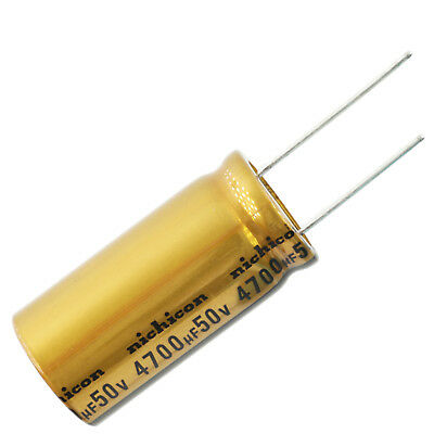 Nichicon Ufw Audio Grade Electrolytic Capacitor 4700uf 50v 20 Tolerance