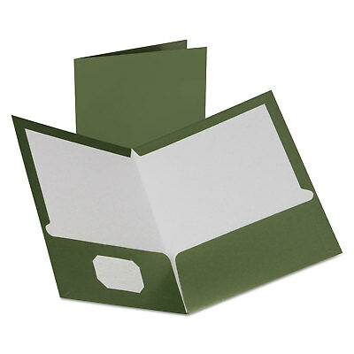 Oxford Two-pocket Laminated Folder 100-sheet Capacity Metallic Green 5049560