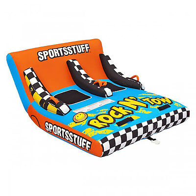 Sportsstuff Inflatable Rock N' Tow 2 Sitting Double Rider Towable Boat Lake -