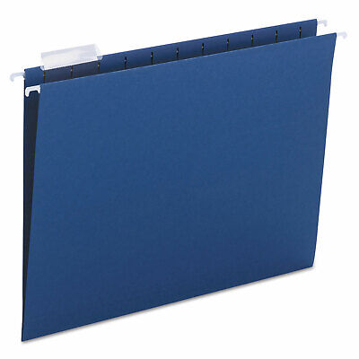 Smead Hanging File Folders 15 Tab 11 Point Stock Letter Navy 25box 64057