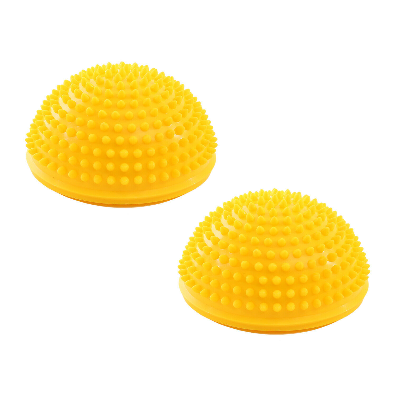 Igelball Massagebälle Halbkugel 16x9cm Triggerpunkt Körper Sport Balance 2er Set