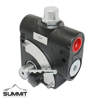 Hydraulic Adjustable Variable Flow Control Valve W Relief 0-16 Gpm 12 Npt