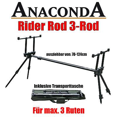 Anaconda Rider Rod Pod 3-Rod - Karpfen Carp - für max. 3 Ruten - inkl. Tasche