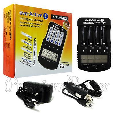 everActive NC-1000 Inteligente Cargador Para Aa AAA NI-MH ni-Cd Baterías LCD Pro