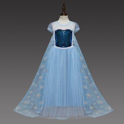 Gorgeous Frozen Queen Elsa Princess Anna Costume Cosplay Party Dress Up L12