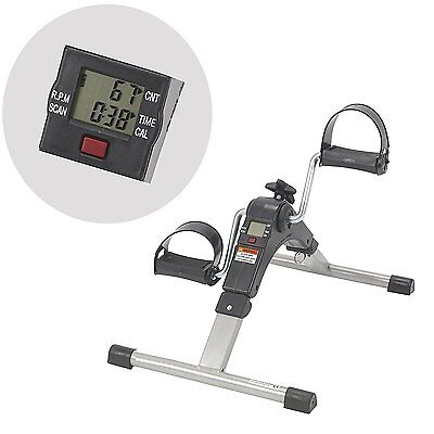 AdirMed Foldable Pedal Fitness Exerciser Cycle Leg/Arm w/ LCD Display Home Gym