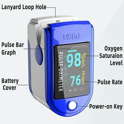 Oxygen Meter Oximeter Blood Fingertip Pulse Spo2 Heart Rate Monitor Saturation