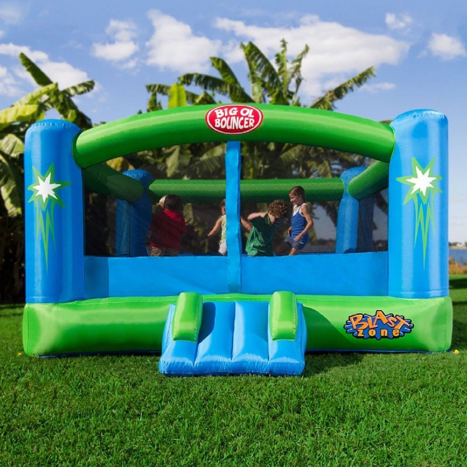 inflatable bouncers inflatable bouncer with rotating windmill