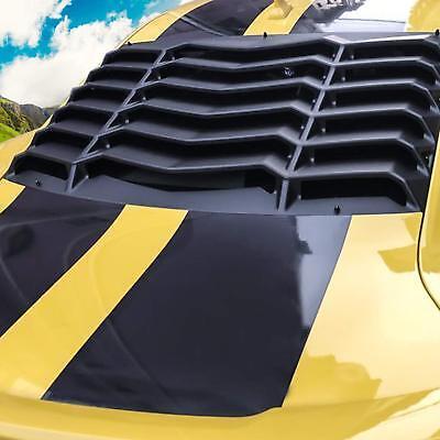 Sun Window (Rear Window Louver Sun Shade Cover Black for 2010-2015 Chevy Camaro Replacement )