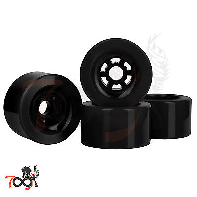 Cal 7 Pro 97mm 78A Cruiser Skateboard Wheels  Longboard Flywheel Black (4pcs)