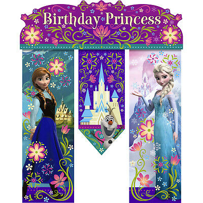 Disney Frozen Happy Birthday Princess Banner Decoration - Princess Birthday Banner