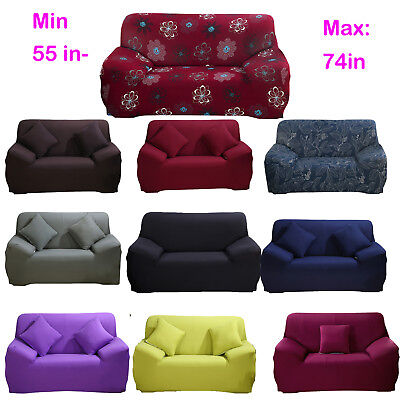 """55-74"""" Loveseat Stretch Sofa Cover Couch Slipcover For Home"""